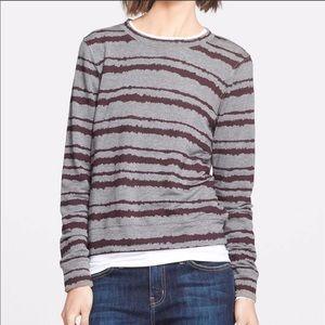 A.L.C. Gray Maroon Striped Sweater